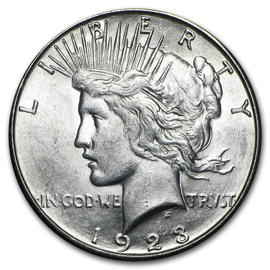 1923 S Peace Silver Dollar (LUSTROUS)